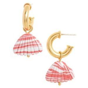 NWT Madewell Stone Shell Charm Mini Earrings